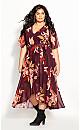 Plus Size Desert Orchid Maxi Dress - plum