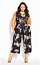 Plus Size Floating Jumpsuit - black