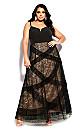 Sexy Ruffles Maxi Dress - black