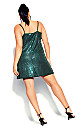Plus Size Disco Fever Dress - emerald