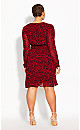 Plus Size Crimson Tiger Dress - crimson