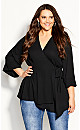 Plus Size Shibara Vibes Top - black