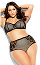 Plus Size Mesh Black Underwire Bra
