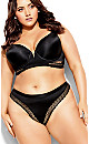 Plus Size Krista Thong - black