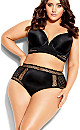 Plus Size Krista High Brief - black