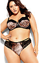 Plus Size Mimi Longline Contour Bra - leopard print