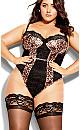 Plus Size Mimi Bodysuit - leopard print