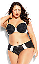 Kitty Contour Bra - black spot