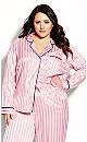 Plus Size Sophia Sleep Shirt - blush