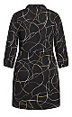 Plus Size Relaxed Tie Dress - black