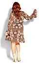 Kindred Floral Dress - taupe