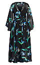 Plus Size Winter Iris Maxi Dress - black