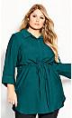 Plus Size Sophisticated Shirt - alpine