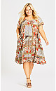 Plus Size Harper Dress - beige