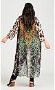Plus Size Coolcat Kimono - green