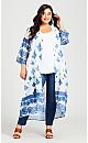 Plus Size Coolcat Kimono - porcelain