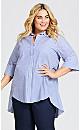 Plus Size Shirt Tunic - blue
