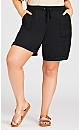 Cotton Casual Short - black