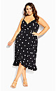 Plus Size Spot Dream Dress - black