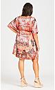 Plus Size Kaftan Bead Dress - coral