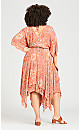 Plus Size Charlotte Hem Dress - peach