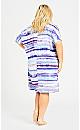 Joanna Pleat Dress - blue