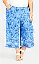 Plus Size Layla Border Pant - blue
