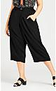 Plus Size Riley Wrap Pant - black