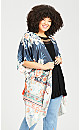 Plus Size Hannah Kimono - grey