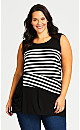 Plus Size Brynlee Spliced Tunic - black
