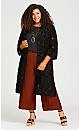 Plus Size Burnout Jacket - black