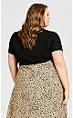 Plus Size Tie Front Shrug - black