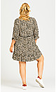 Plus Size Lora Smock Dress - cheetah