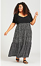 Plus Size Lace Trim Shrug - black