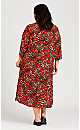Plus Size Long Animal Kimono - animal floral