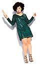 Plus Size Bright Lights Dress - emerald