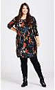 Plus Size Celine Print Dress - black print