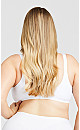 Plus Size Back Smoother Bra - white