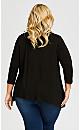 Plus Size Kyla Top - black