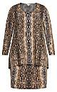 Plus Size Chaya Dress - snake
