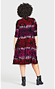 Plus Size Brookline Print Dress - berry paisley