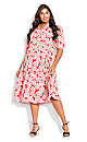 Plus Size Majesty Midi Dress - pink floral
