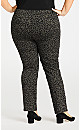 Plus Size Luxe Sateen Pull-On Jean in Animal Print