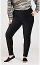 Plus Size Knit Corduroy Leggings - black
