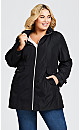 Plus Size Spring Anorak - black