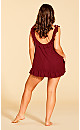 Plus Size Sinfully Sweet Babydoll - Scooter Red