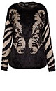 Metallic Zebra Jumper - Black - 16 / S