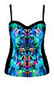 FLORAL ABSTRACT TANK - Black Print - 14 / XS