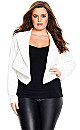Sharp Collar Jacket - White - 24 / XXL