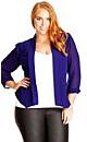 Colored Drapey Blazer Jacket - Iris - 18 / M